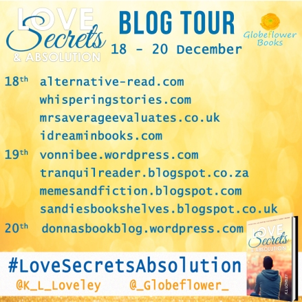 Love, Secrets, and Absolution Blog Tour Banner