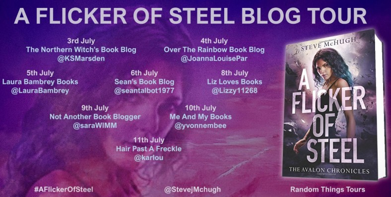 A Flicker of Steel Blog Tour Poster